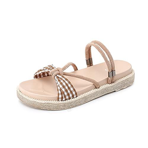 Sandalias de baño para mujer, zapatillas de piscina ultraligeras, peep toe, verano, dos prendas, planas, al aire libre, elegantes, zapatos de diapositivas para mujer Roma