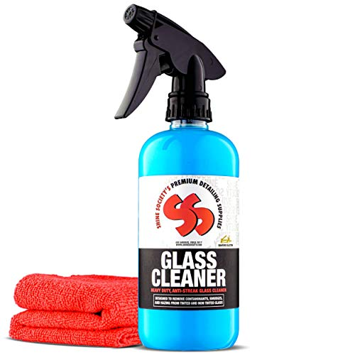Shine Society Glass and Window Cleaner with Free Microfiber Towel, 100% All...