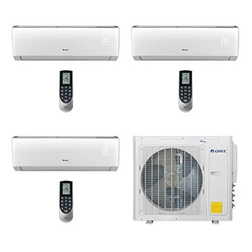 GREE MULTI30CVIR302-30,000 BTU Multi21+ Tri-Zone Wall Mount Mini Split Air Conditioner Heat Pump 208-230V (9-9-18)