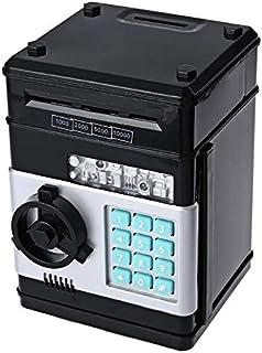 Kids Mini Electronic Money Bank Coin Cash Saving Box,black