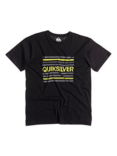 Quiksilver Classic Lines Camiseta de Manga Corta, Hombre, Antracita, L