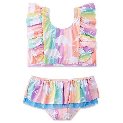 Huihong Mädchen Badeanzug Bikini, Ananasdruck Kindere Zweiteiliger Bademode Verstellbarer Schultergurt, UV-Schutz Hawaiianische Badebekleidung (Rosa, 120)