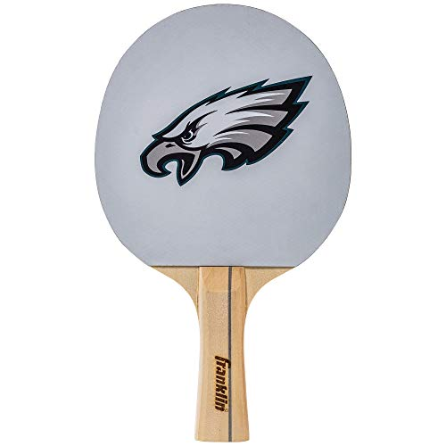 Franklin Sports Philadelphia Eagles Table Tennis Paddle - NFL Team Table Tennis Paddles - Official Team Logos and Colors - Fun NFL Game Room Accessories