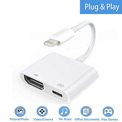 Boomly HDMI Adaptador Digital AV Compatible con iPhone X XR XS MAX 8 7...