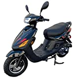X-PRO X22 50cc Moped Scooter Street Scooter Gas Moped 50cc Adult Scooter Bike with 10' Aluminum Wheels!(Black)