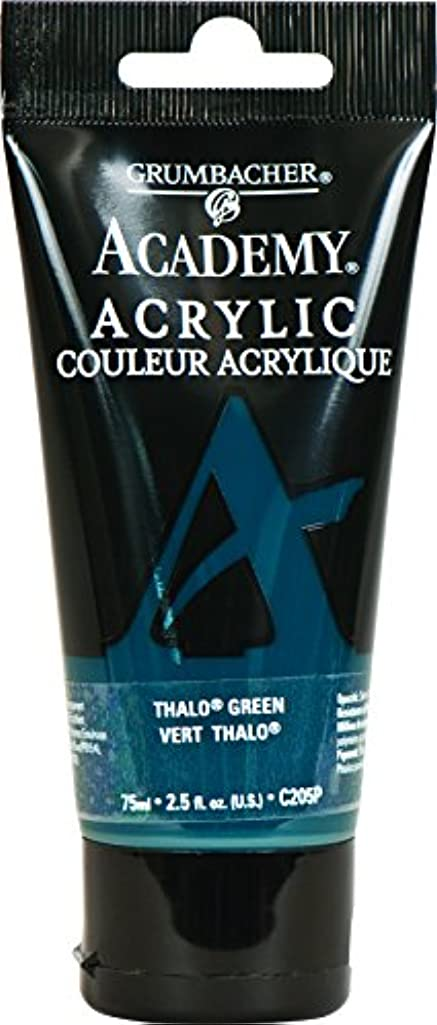 Grumbacher Academy Acrylic Paint, 75ml/2.5 Ounce Plastic Tube, Thalo Green (Blue Shade) (C205P)