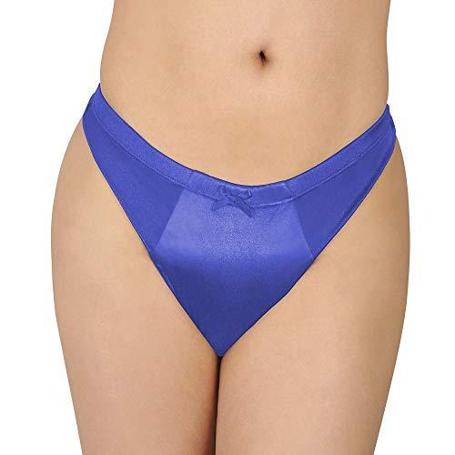 Maximum Smooth Thong Gaff in Stretch Satin for Trans Women New (Blue, Medium (31-36))