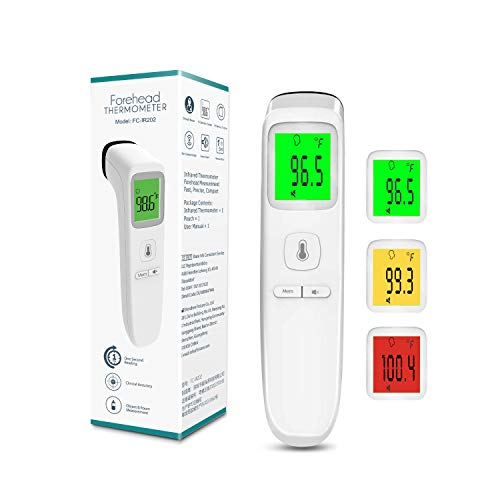 XDX Thermometer for Adults Forehead, No Touch Thermometer with Fever Alarm and Memory Ideal for Babies, Kids, Adults, Indoor Outdoor Medical Use