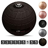 j/fit TREADS Dead Weight Slam Ball with Easy-Grip Textured Surface, 40 lb