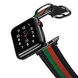 amBand Retro Lederbänder Kompatibel mit Apple Watch Armband 44mm 42mm 40mm 38mm, Männer Frauen...