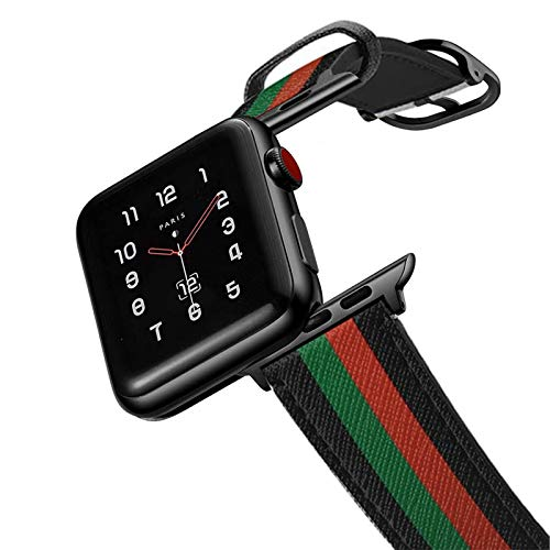 amBand Compatibile Cinturino Apple Watch 40mm 38mm,Donna Uomo Cinturini in Vera Pelle Classica Vintage per iWatch Series 6 SE 5 4 3 3 2 1