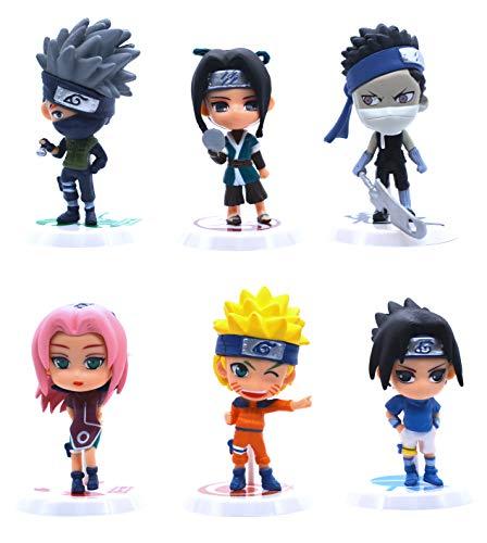 Anime Domain Set de Figuras en Forma de Personajes de Naruto 1