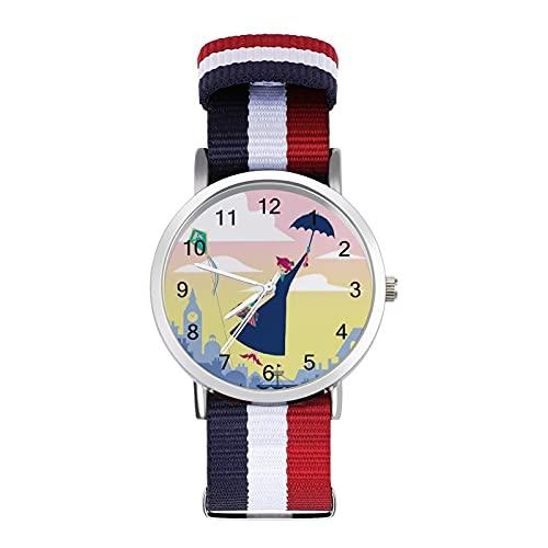 Mary Poppins Reloj de ocio para adultos, moderno, bonito y personalizado, de aleación, casual, deportivo, para hombres y mujeres