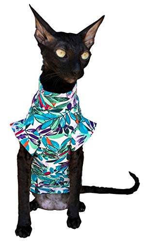 Kotomoda Cat Wear T-Shirt Blätter, XS