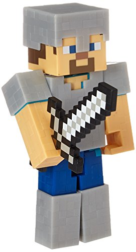 Minecraft Survival Mode Steve with Iron Armor Action Figure - Series 4
