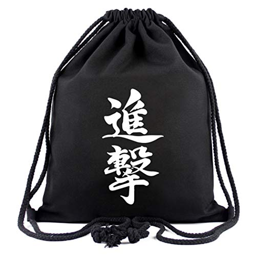 WANHONGYUE Attack on Titan Anime Mochila de Cuerda Bolsas de Gimnasia Deporte Gymsack Sackpack Nuevo 4
