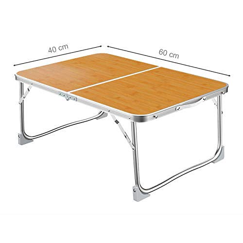 Mesa de jardín plegable, mesa de café plegable, perfecta para mesa de campamento-marrón