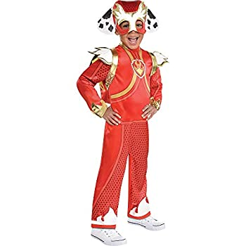 Party City Marshall Light-Up Halloween Costume for Boys Paw Patrol Small 4-6 Includes Jumpsuit Headpiece and Backpack