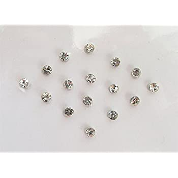 Amazon Com 120 Silver Dots 1 Mm Stick On Fake Nose Studs Silver