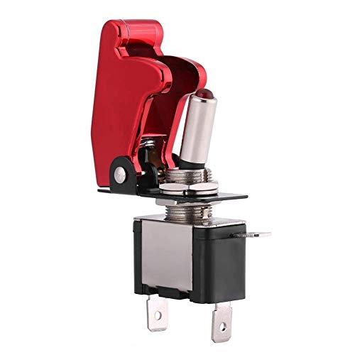 Fried Suave Interruptor de la Cubierta roja 12V 20A de Carreras de Coches de luz LED de Encendido SPST Rocker Control de Encendido/Apagado Escabroso