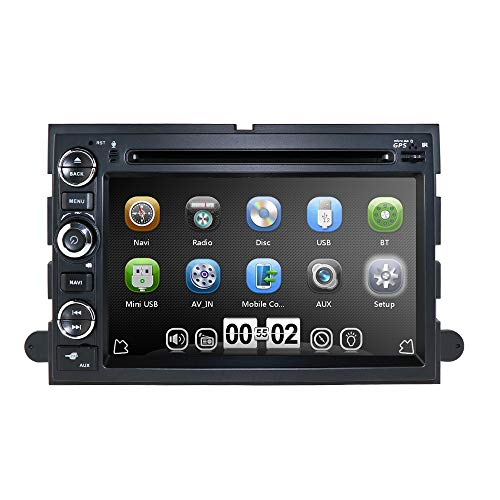 hizpo 7 Inch Touch Screen in Dash GPS Navigation Double 2 Din Head Unit DVD Car Player Radio Bluetooth 4.0 for Ford F150 F-150 F250 F-250 F350 F-350 F450 F-450 F550 F-550