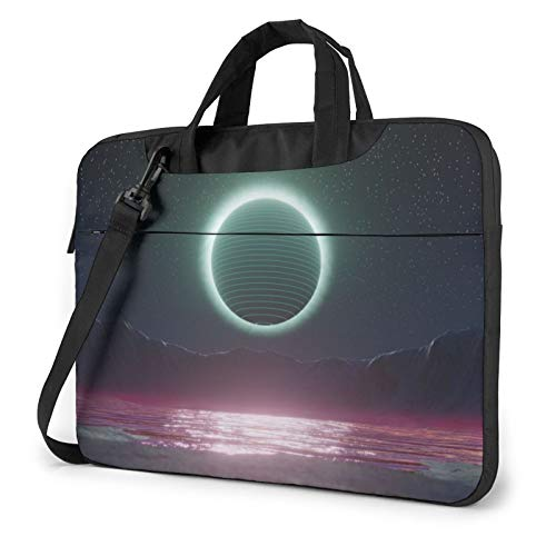 Laptop Sleeve Bag Moon Retroart Tablet Briefcase Ultraportable Protective Canvas for 13 inch MacBook Pro/MacBook Air/Notebook Computer