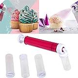 Zller2587 Aerografo Manuale per Torte Fai da Te,Cake Pastry Duster, Strumenti di Cottura Cake Spray Gun Decoration Kit per Decorazioni di Torte E Dessert A