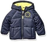 Carter's Baby Boys Adventure Bubble Jacket, Armour Gray/Azul/Radioactive, 24 Months