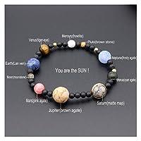 ギャラクシーソーラーシステムバース9惑星天然石星アースムーン女性男ファッションジュエリー (Color : Style16)