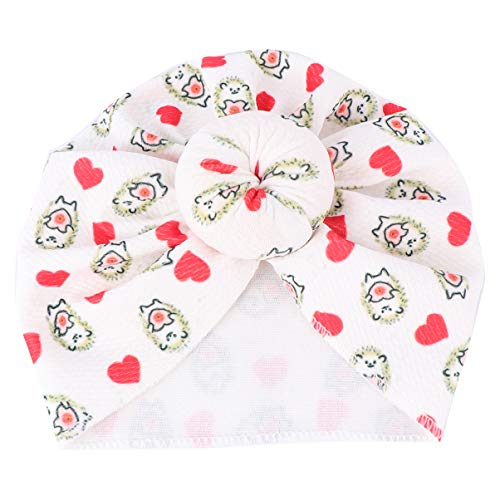 KESYOO – Touca de cabeça com laço macio para bebês e meninas e meninos, Padrão de porco-espinho, 18×16cm