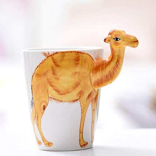 Creativo 3D Animal Camello Lindo Cerámica Taza De Leche De Café Oficina En El Hogar Tarde Taza De Té Creativo Divertido Regalo Niños Bebida Taza 400Ml