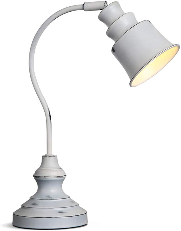 Minimalistische Massivholz Tischlampe Schmiedeeisen Schlafzimmer Nachttischlampe [Energieklasse A +] (Farbe   5W LED-Weiß Light)