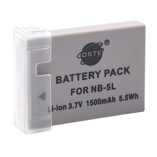 DSTE Ricaricabile Li-ion Batteria Compatibile per NB-5L e Canon PowerShot S110,SD700 IS,SD790,SD800,SD850,SD870,SD880,SD890, SD900,SD950,SD970,SD990,SX200,SX210,SX220,SX230 HS,IXUS 800 850