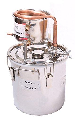 Kit de destilación de 10 l para el hogar; destilador de cobre; para la elaboración casera de vino, alcohol, cerveza o destilación de agua