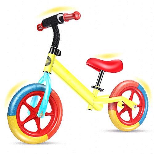 LYXCM Equilibrio De Bici, En Bicicleta De Equilibrio Sin Pedales Fuerte Carga De 30 Kg Portante En Bicicleta De Equilibrio En Forma De Luz Física