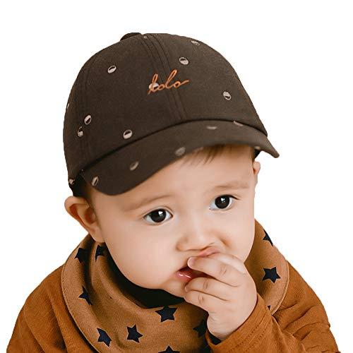 ZHANGYAN Sombrero de Sol para niños UPF 50+ de niños, Gorra de béisbol Ajustable, Gorra de Viaje al Aire Libre (Color : Brown, Size : 40-48cm/15.7-18.8in)