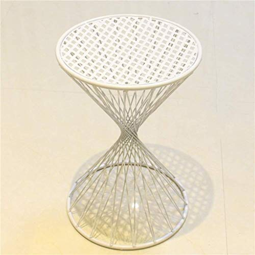 NYDZDM - Taburete de mesa y silla Makeup - Taburete de tocador de hierro forjado de hierro forjado - Color : pintura blanca - Dimensiones: 30 x 30 x 45 cm