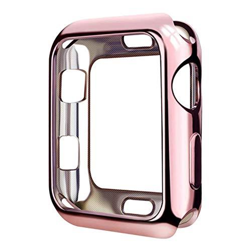 TPU Slim Soft Case para Apple Watch SE Series 6 5 4 38MM 42MM chapado cubierta protectora para iwatch Series 1 2 3 4 5 40MM 44MM