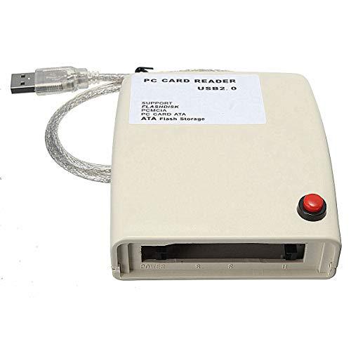 ILS - Lector de tarjetas ATA PCMCIA USB 2.0 a 68 pines ATA PCMCIA Flash convertidor adaptador tarjeta de memoria