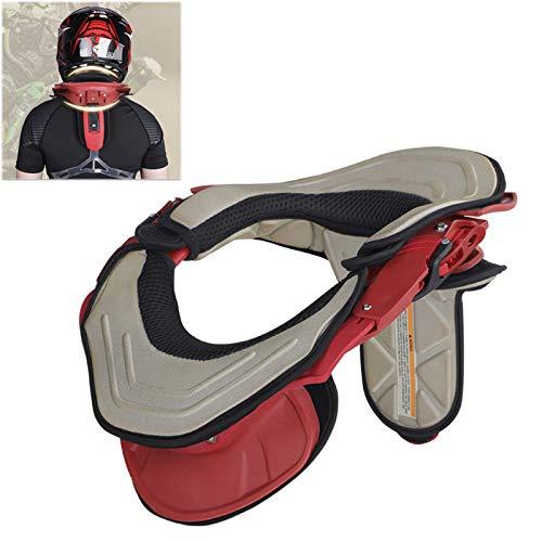 Enwebalay Nackenschutz Motorrad, Erwachsene Nackenprotektoren Stabilizing Collar, Karte Racing Sicherheitshalsband Motocross AusrüStung,Rot
