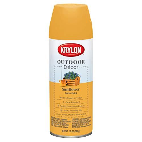 Krylon K09330000 Outdoor Décor Spray Paint, Sunflower