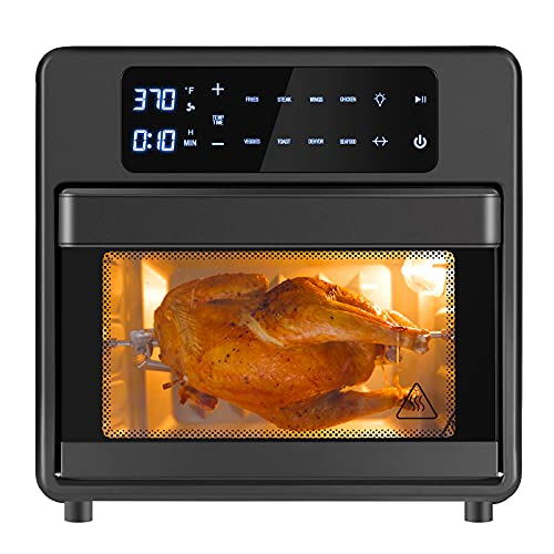 Toaster Oven Air Fryer combo 8-in-1, 16 Quart Large Capacity Airfryer Oilless Cooker, Shake...