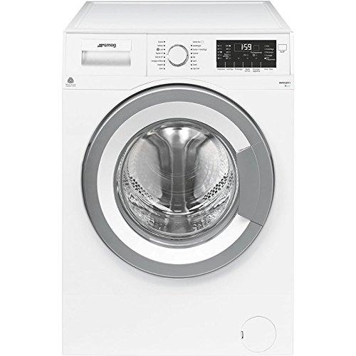 Smeg WHT812EIT-1 lavatrice Libera installazione Caricamento frontale Silver, Bianco 8 kg 1200 Giri/min A+++