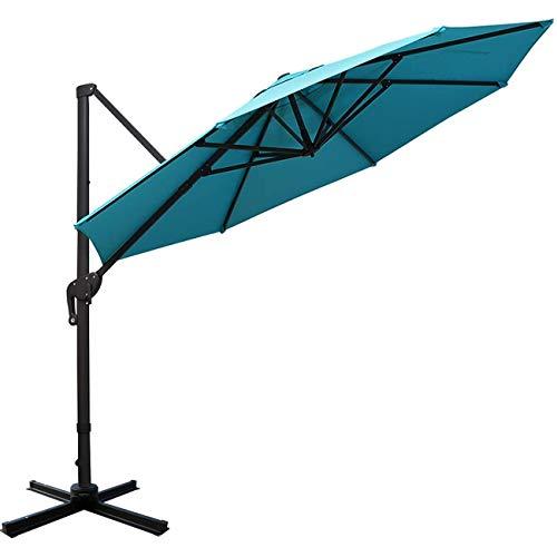 Sunnyglade 11ft Patio Offset Hanging Umbrella Deluxe Outdoor Cantilever Umbrella with Easy Tilt for Garden, Backyard, Patio,Pool (11ft, Blue)