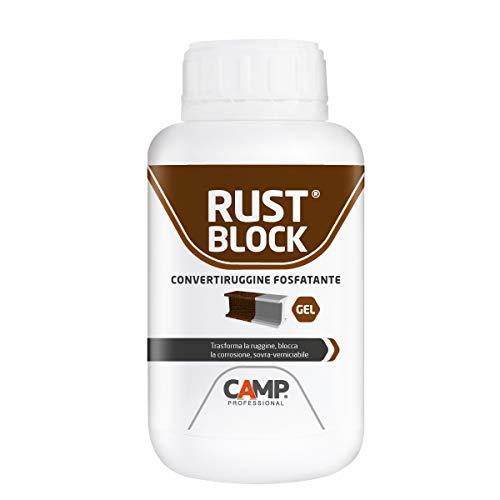Camp RUST BLOCK CONVERTIRUGGINE FOSFATANTE Formula Gel, Converte e blocca la ruggine, Protettivo, Sovra-verniciabile