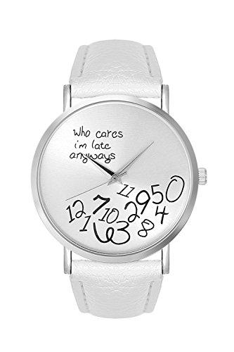 New Trend - Love for Accessories Damen Uhr analog Quarzwerk mit Kunst-Leder Armband VF-XL51-ID4N