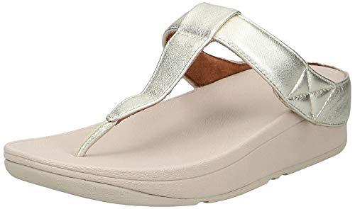 FitFlop Mina Adjustable Toe Post - Leather, Sandalias de Punta Descubierta para Mujer