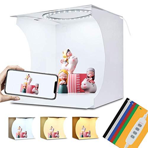 PULUZ - Caja de luz LED de 20 cm con 3 Modos Regulables para