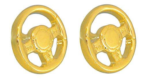 Unbekannt Lenkrad Manschettenknöpfe Auto Accessoire vergoldet glänzend inkl.Geschenkbox