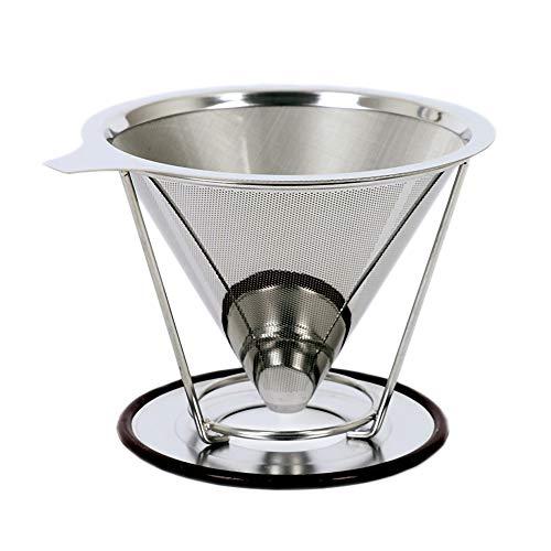 Baomasir Herbruikbare koffiefilter van roestvrij conisch staal – Uniek filter voor koffie zonder papierresten, nieuwe generatie